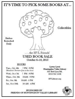Oct 6 book sale