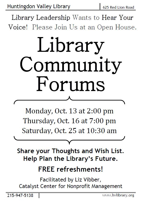 Library Community Forum Flyer